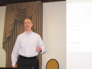 John Niechwiadowicz of Performance Consulting Services addressed attendees in both Toms River and Totowa on the importance of knowing one's numbers.